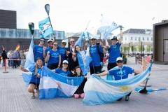 Team Argentina - Team Opening Ceremony. PHOTO: ISA / Evans