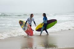 JPN - Yuuka Horikoshi Haw Annie Reickert Denmark Surf. PHOTO: ISA / Evans