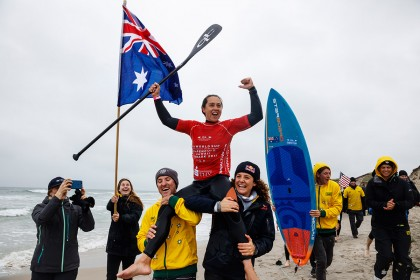 Australia's Shakira Westdorp Repeats Title and Brazil's Luiz Diniz Steps into International Spotlight with Men's Gold Medal at 2017 ISA World SUP and Paddleboard Championship