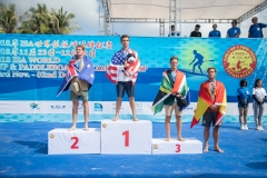 Podium Paddle Distance Men. PHOTO: ISA / Pablo Jimenez