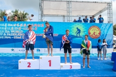 Podium Paddle Tech Race Men. PHOTO: ISA / Pablo Jimenez