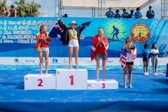 Podium Paddle Tech Race Women. PHOTO: ISA / Pablo Jimenez