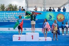 Podium Sprint Race Women. PHOTO: ISA / Pablo Jimenez