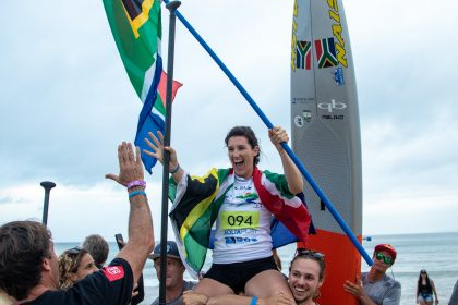 Brazil's Arthur Santacreu and South Africa's Tarryn King Capture Thrilling SUP Sprint Gold Medals
