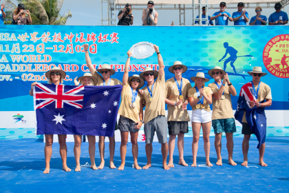 Australia Continua con su Reinado en el SUP y Paddleboard con su Sexta Medalla de Oro por Equipos