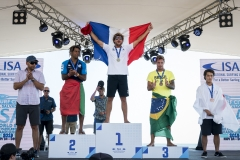 Men's Sup Surfing Podium. PHOTO: ISA / Ben Reed