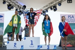 Women's Meter Sprint Race Podium. PHOTO: ISA / Ben Reed