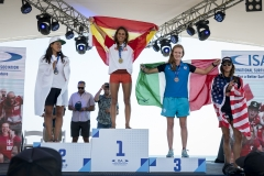 Women's Paddleboard Long Technical Race Podium. PHOTO: ISA / Ben Reed