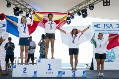Women's SUP Long Distance Race Podium. PHOTO: ISA / Ben Reed