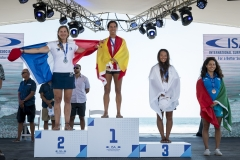 Women's SUP Technical Race Podium. PHOTO: ISA / Ben Reed