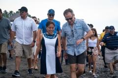 ISA Executive Director Robert Fasulo & Minister of Tourism Morena Valdez. PHOTO: ISA / Sean Evans