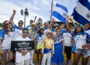 Team Nicaragua with ISA President Fernando Aguerre. PHOTO: ISA / Reed