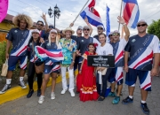 Team Costa Rica with ISA President Fernando Aguerre. PHOTO: ISA / Reed