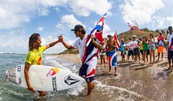 CAN'T STOP COSTA RICA. DYNAMIC DUO CARLOS MUÑOZ, LEILANI MCGONAGLE OWN REPECHAGE ROUNDS, TEAM DOMINATES ISA ALOHA CUP Image Thumb