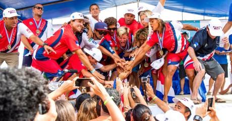 COSTA RICA CROWNED 2015 SURFING TEAM WORLD CHAMPION. TIA BLANCO (USA), NOE MAR MCGONAGLE (CRI) EARN INDIVIDUAL GOLD MEDALS Image Thumb
