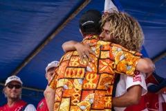 ISA President Fernando Aguerre with Carlos Muñoz (CRI)  PHOTO: ISA / Reed