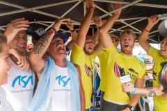 Team Argentina Celebrating Aloha Cup. PHOTO: ISA / Jimenez