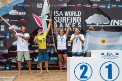 Team Argentina Podium Aloha Cup. PHOTO: ISA / Jimenez