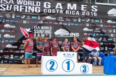 Team Costa Rica Podium Aloha Cup. PHOTO: ISA / Jimenez