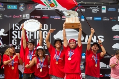 Team Peru Podium. PHOTO: ISA / Jimenez
