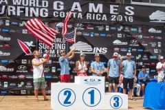 Team USA Podium Aloha Cup. PHOTO: ISA / Jimenez