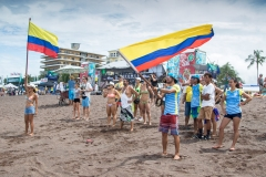 Team Colombia Flags. PHOTO: ISA / Jimenez