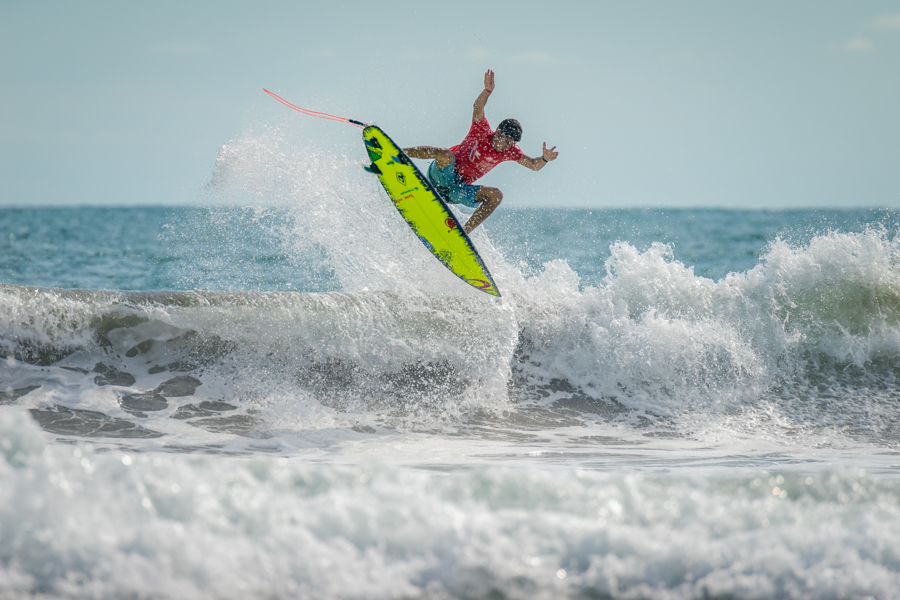 At just 17 years old, Jose Joaquin Lopez can throw airs far beyond his age. Photo: ISA / Sean Evans