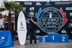 French Surfing Federation President Jean-luc Arassus. PHOTO: ISA / Ben Reed
