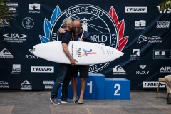 ISA President Fernando Aguerre & French Surfing Federation President Jean-luc Arassus. PHOTO: ISA / Ben Reed