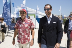 Haakon, Crown Prince of Norway and ISA President Fernando Aguerre. PHOTO: ISA / Ben Reed
