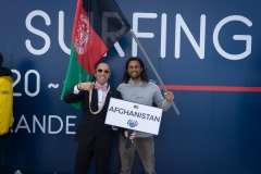Team Afghanistan with ISA President Fernando Aguerre. PHOTO: ISA / Evans