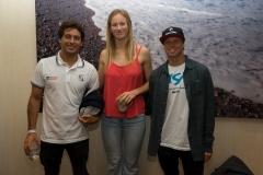 Jeremy Flores (FRA),  Bianca Buitendag (RSA), Lele Usuna (ARG). PHOTO: ISA / Evans