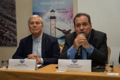 Max Brisson -Vice president Department of Sports Pyréneés Atlantiques  / Michel Veunac, Biarritz Mayor . PHOTO: ISA / Evans