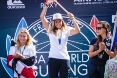 Gold - Pauline Ado (FRA) Silver - Johanne Defay (FRA) Bronze - Leilani McGonaglE (CRC) ). PHOTO: ISA / Ben Reed