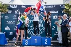 Gold - Pauline Ado (FRA) Silver - Johanne Defay (FRA) Bronze - Leilani McGonaglE (CRC) Copper - Bianca Buitendag (RSA). PHOTO: ISA / Ben Reed