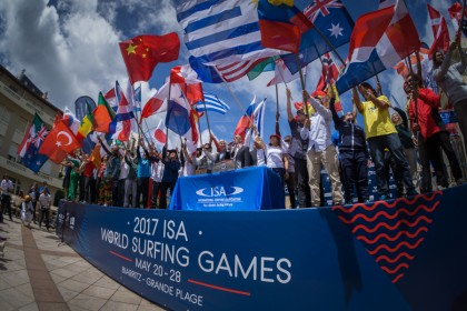 Spectacular Opening Ceremony Kicks off Historic ISA World Surfing Games in Biarritz, France