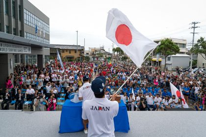 Team Spirit on Full Display at Opening Ceremony of 2018 UR ISA World Surfing Games