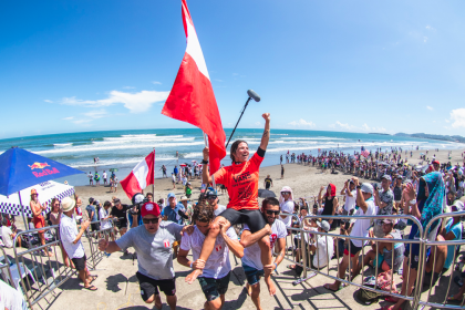 Peru's Sofia Mulanovich Seizes Women's Gold Medal at 2019 ISA World Surfing Games presented by Vans